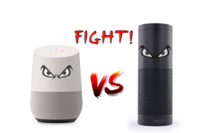 Google Home vs Amazon Echo.