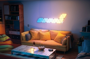 Nanoleaf Aurora Living Room.