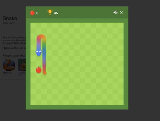 Google Easter Eggs - Playing Snake.