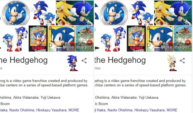 Google Easter Eggs - Sonic The Hedgehog.